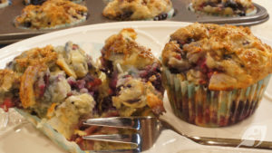 Gluten-Free Triple Berry Coconut Muffins