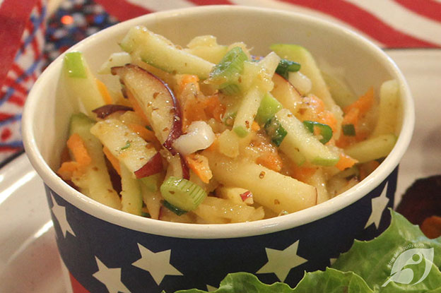 Gluten-Free Food: Apple Pineapple Slaw with Honey Mustard Dressing