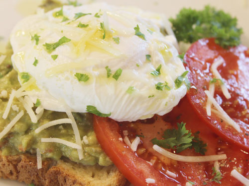 Avocado Toast with Fresh Tomato & Poached Egg