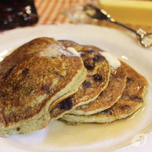 Gluten-Free Whole Grain Chocolate Chip Zucchini Pancakes