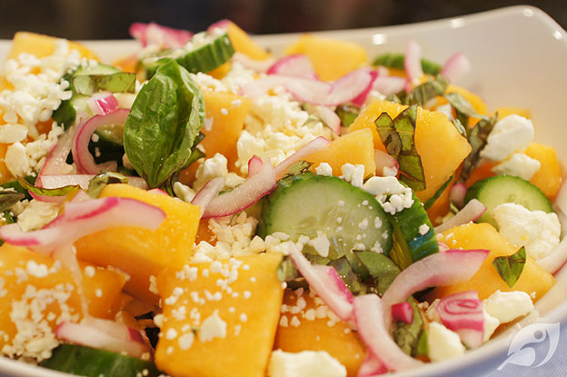 Gluten-Free Food: Garden Fresh Cantaloupe & Cucumber Salad with Feta
