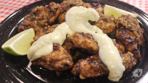 Spicy Southwestern Grilled Wings with Avocado Jalapeno Dressing