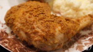 Crispy Oven-Baked Chicken Leg Quarters