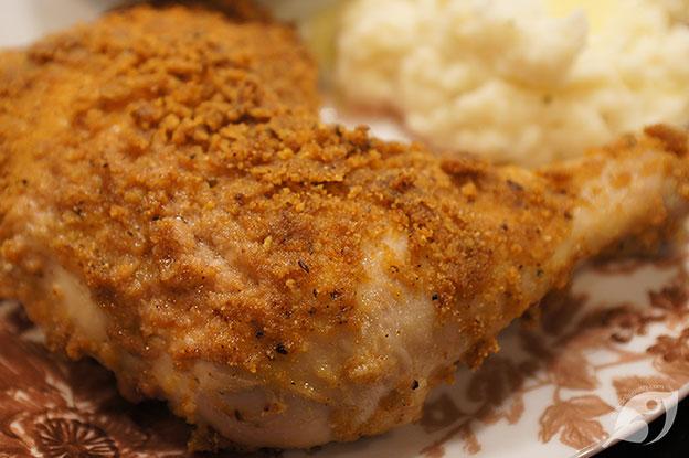 Gluten-Free Food: Crispy Oven-Baked Chicken Leg Quarters