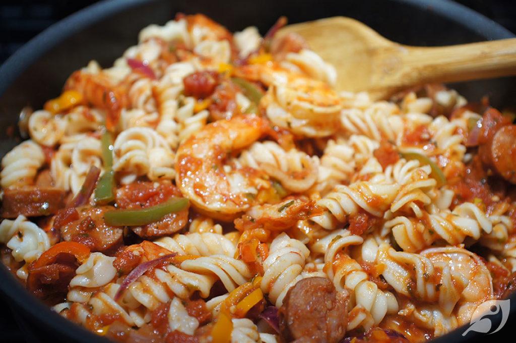 Spicy Shrimp & Andouille Sausage Fusilli