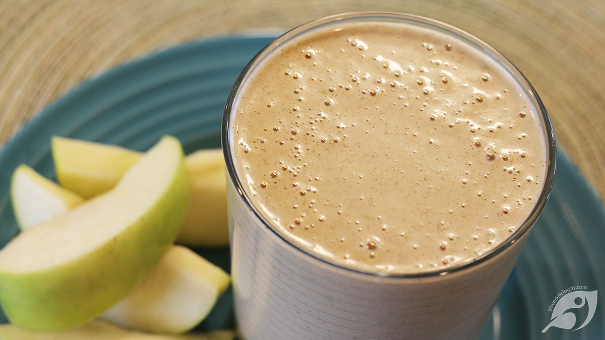 Chocolate Almond Apple Oatmeal Protein Shake