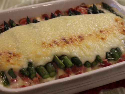 Asparagus & Ham AuGratin Casserole