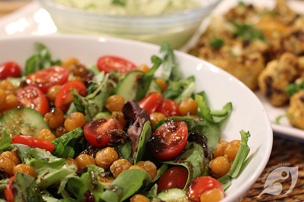 Gluten-Free Food: Roasted Chickpea Salad with Balsamic Dressing