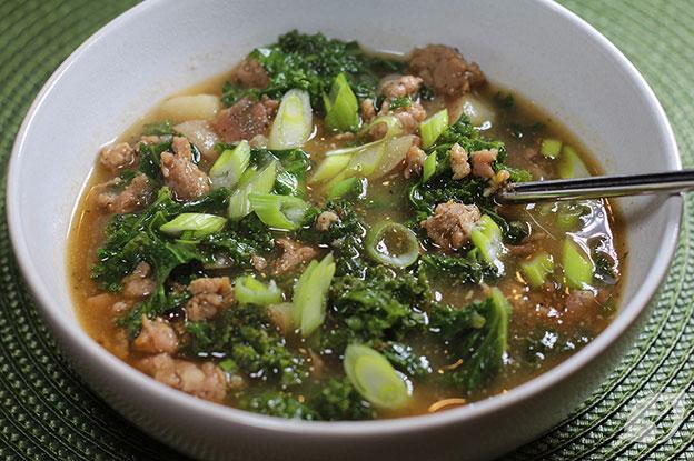 Gluten-Free Food: Sausage, Potato & Kale Soup