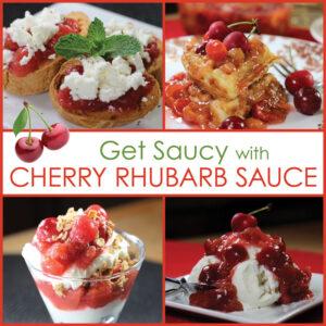 Cherry Rhubarb Sauce on Food