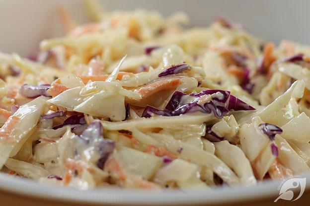 Gluten-Free Food: Creamy Coleslaw closeup