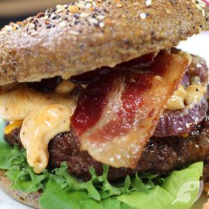 Southwest Rodeo Burgers up close photo