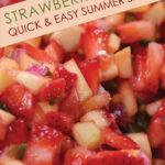 Strawberry Mango Summer Salsa Pinterest graphic
