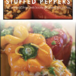 800x1200 pixel Pinterest Image of Mexican Stuffed Peppers
