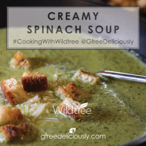 creamy spinach soup social share image