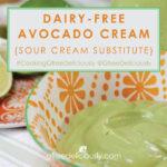 Dairy-Free Avocado Cream closeup social share image