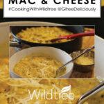 closeup of pumpkin Mac & Cheese Pinterest share image