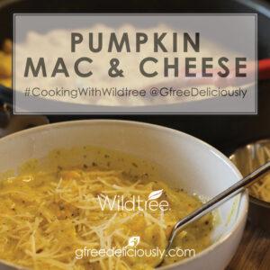 closeup of pumpkin Mac & Cheese social share image
