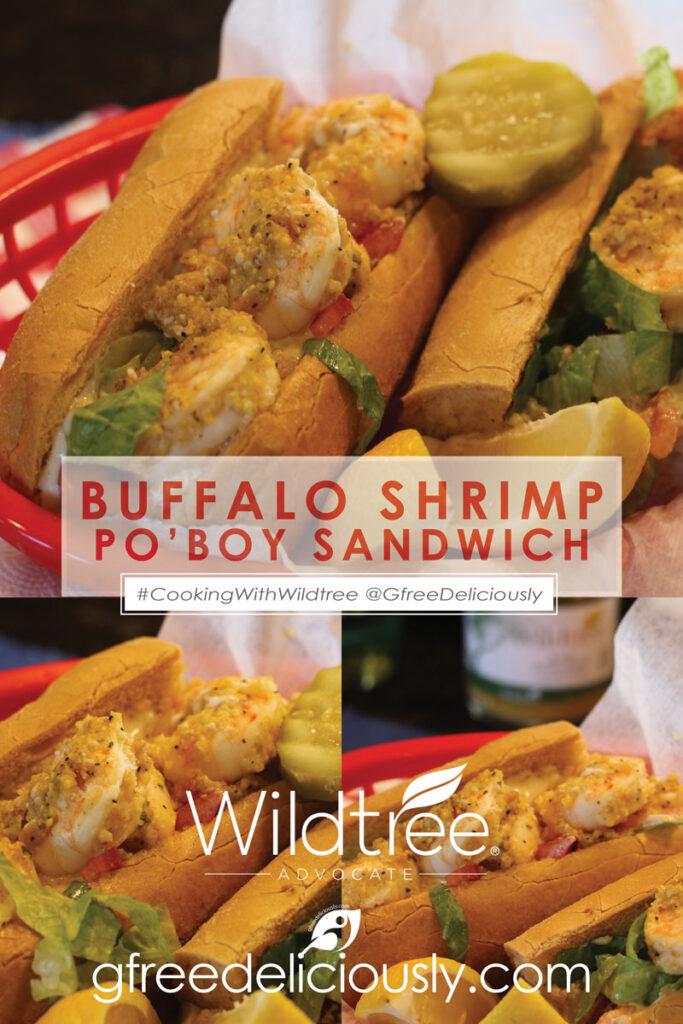 Buffalo Shrimp Po'Boy Pinterest image