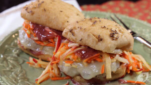Sage Turkey Sliders with Apple Carrot Slaw & Cranberry Mayo