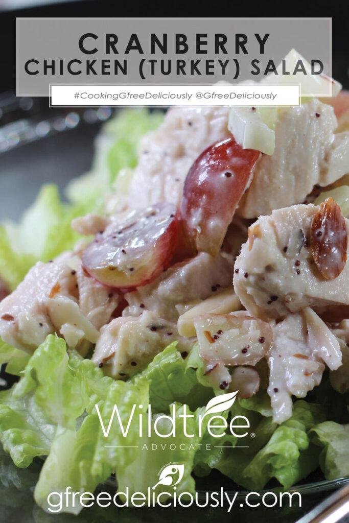 Cranberry Chicken (Turkey) Salad Pinterest image