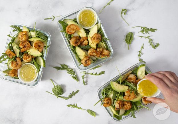 Chipotle Shrimp & Avocado Salad