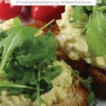 Egg salad on toast Pinterest share image 800x1200px