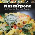 Mascarpone & Pepper Penne Pasta 800x1200 Pinterest share graphic