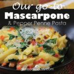Mascarpone & Pepper Penne Pasta 728x728 social share graphic