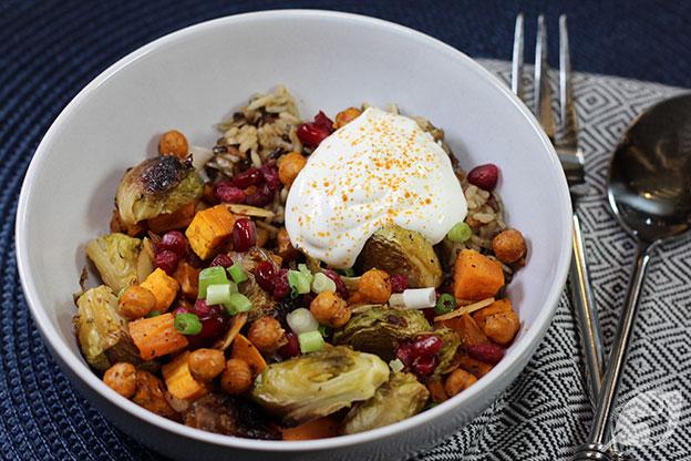 Roasted Veggie & Wild Rice Buddha Bowl