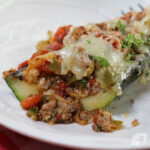 How to Make Grilled Italian Stuffed Zucchini Boats Social Share Graphic 728x728px